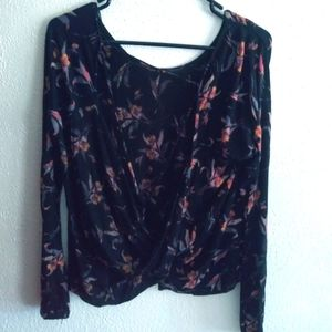 Free people backless blouse